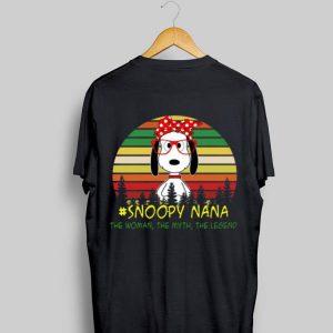 Snoopy Nana The Woman The Myth The Legend shirt