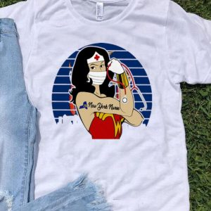Vintage Wonder Woman Tattoos New York Nurse Covid-19 shirt