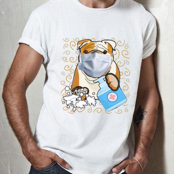 American Bulldog Mask Handwashing Survived Coronavirus shirt