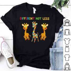 Giraffes Autism Different Not Less shirt