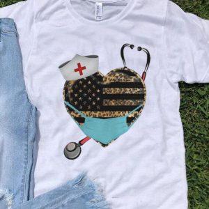 Leopart Heart Stethoscope Nurse Covid-19 shirt