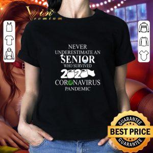 Official Never Underestimate an Senior who survived 2020 Coronavirus Pandemic shirt