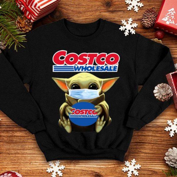 Star Wars Baby Yoda Mask Hug Costco Wholesale Covid-19 shirt