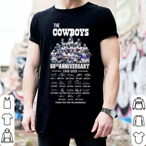 The Cowboys 60th Anniversary Thank You For The Memories Signatures shirt