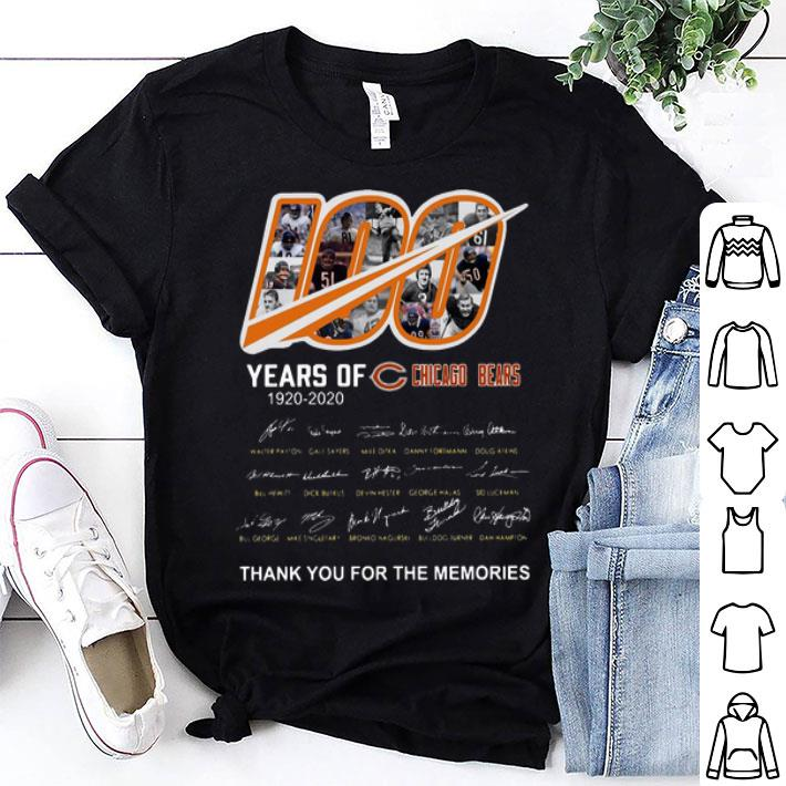 100 Years Of Chicago Bears Thank You For The Memories Signatures shirt