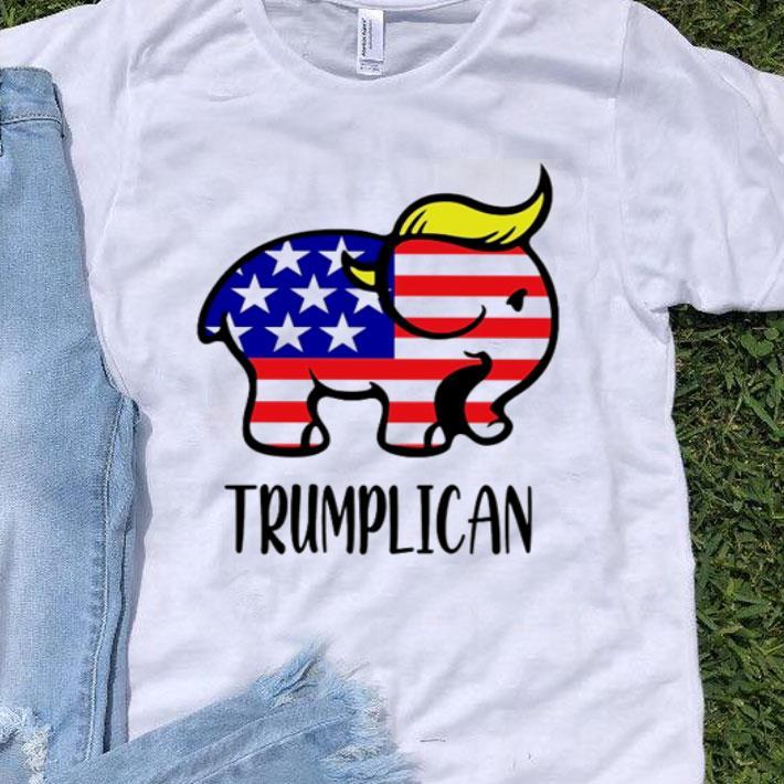 Donald Trump Elephant Trumplican American Flag Independence Day shirt
