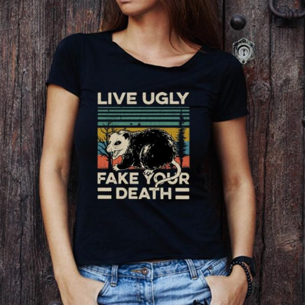 Awesome Vintage Opossum Live Ugly Fake Your Death shirt 1