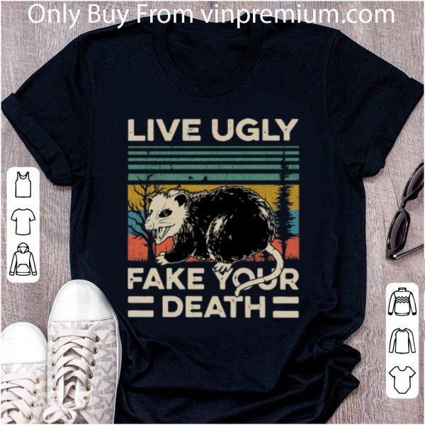 Awesome Vintage Opossum Live Ugly Fake Your Death shirt 2
