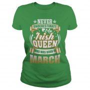 March saint patricks day ladies tee