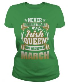 March saint patricks day ladies tee