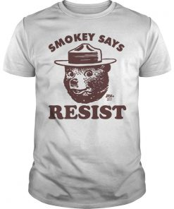 SMOKEY SAYS RESIST Guys Tee