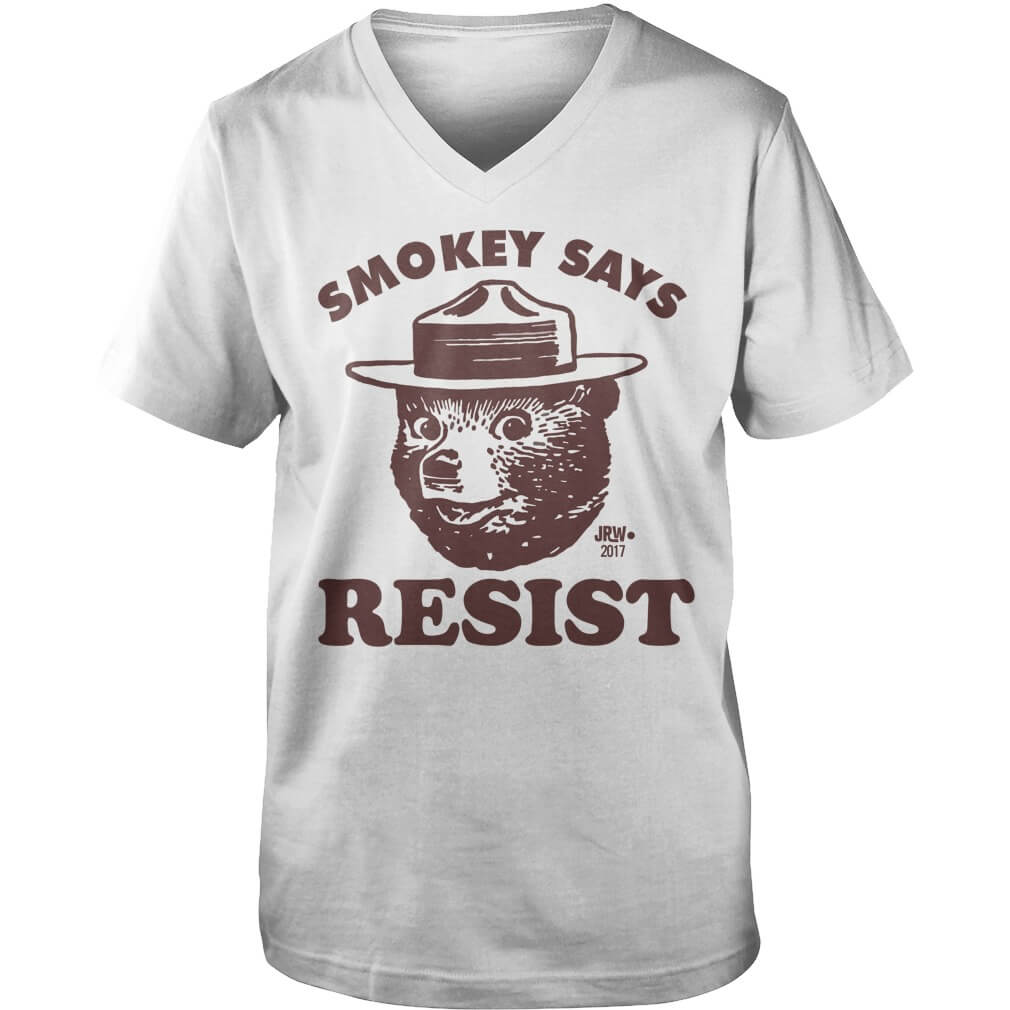 SMOKEY SAYS RESIST guys V neck
