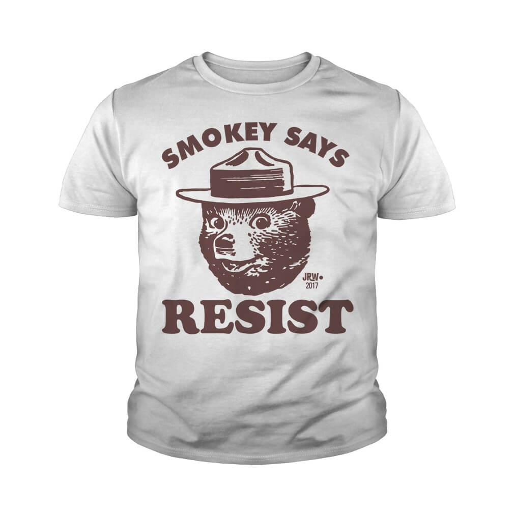 SMOKEY SAYS RESIST youth tee