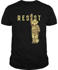 TOP Smokey Says Resist guy tee