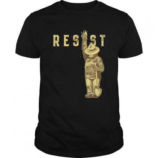 TOP Smokey Says Resist guy tee