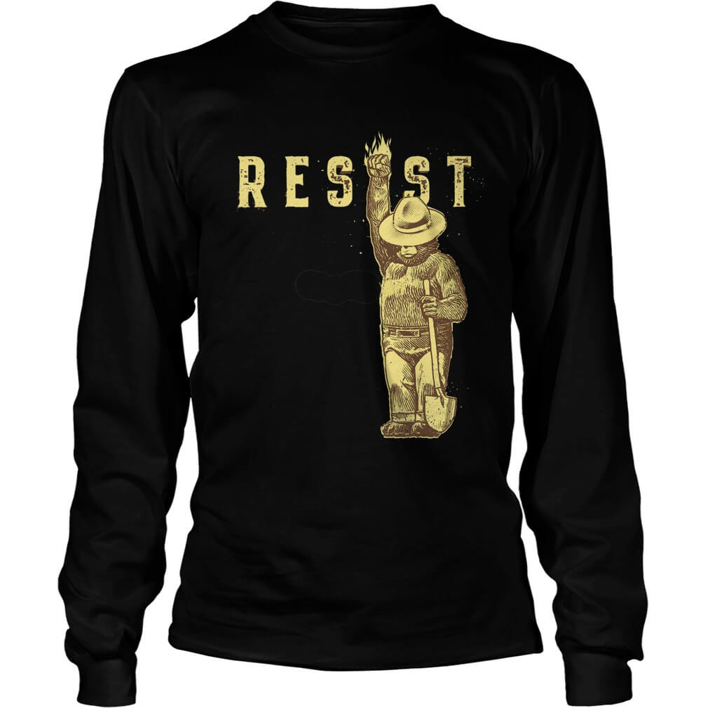 TOP Smokey Says Resist long sleeve tee