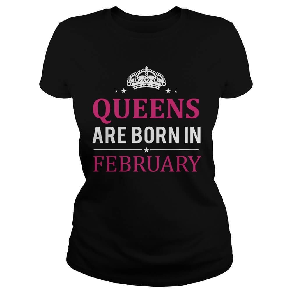 Queens are born in February vneck