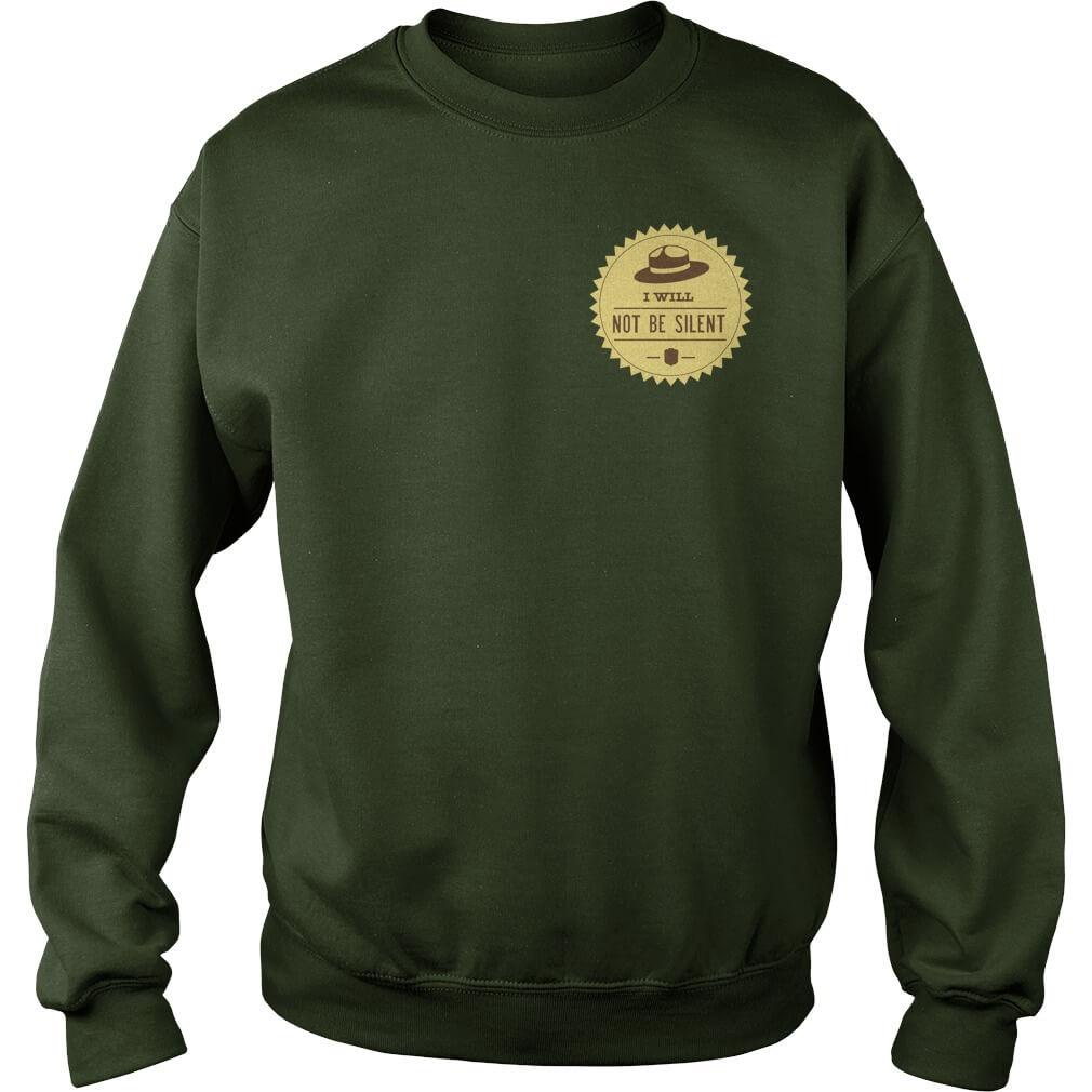 Smokey says resist sweat shirt front design