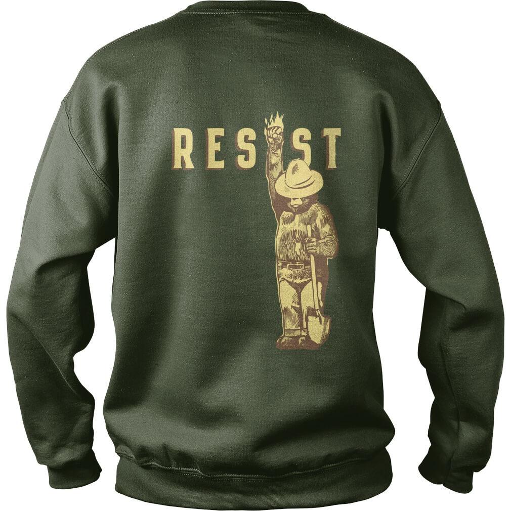 Smokey says resist sweat shirt back design