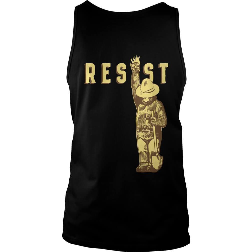Smokey says resist tank top back design