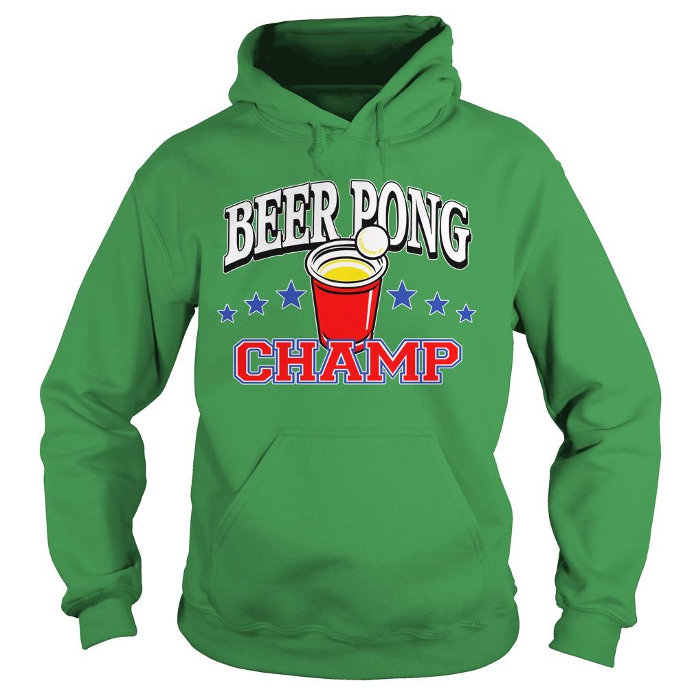 Beer Pong Championship Shirt Hoodies