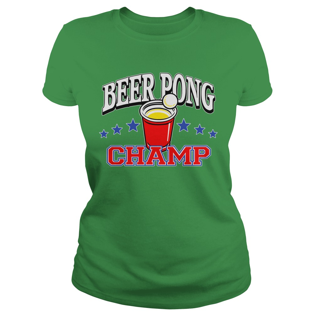 Beer Pong Championship Shirt Ladies-Tee