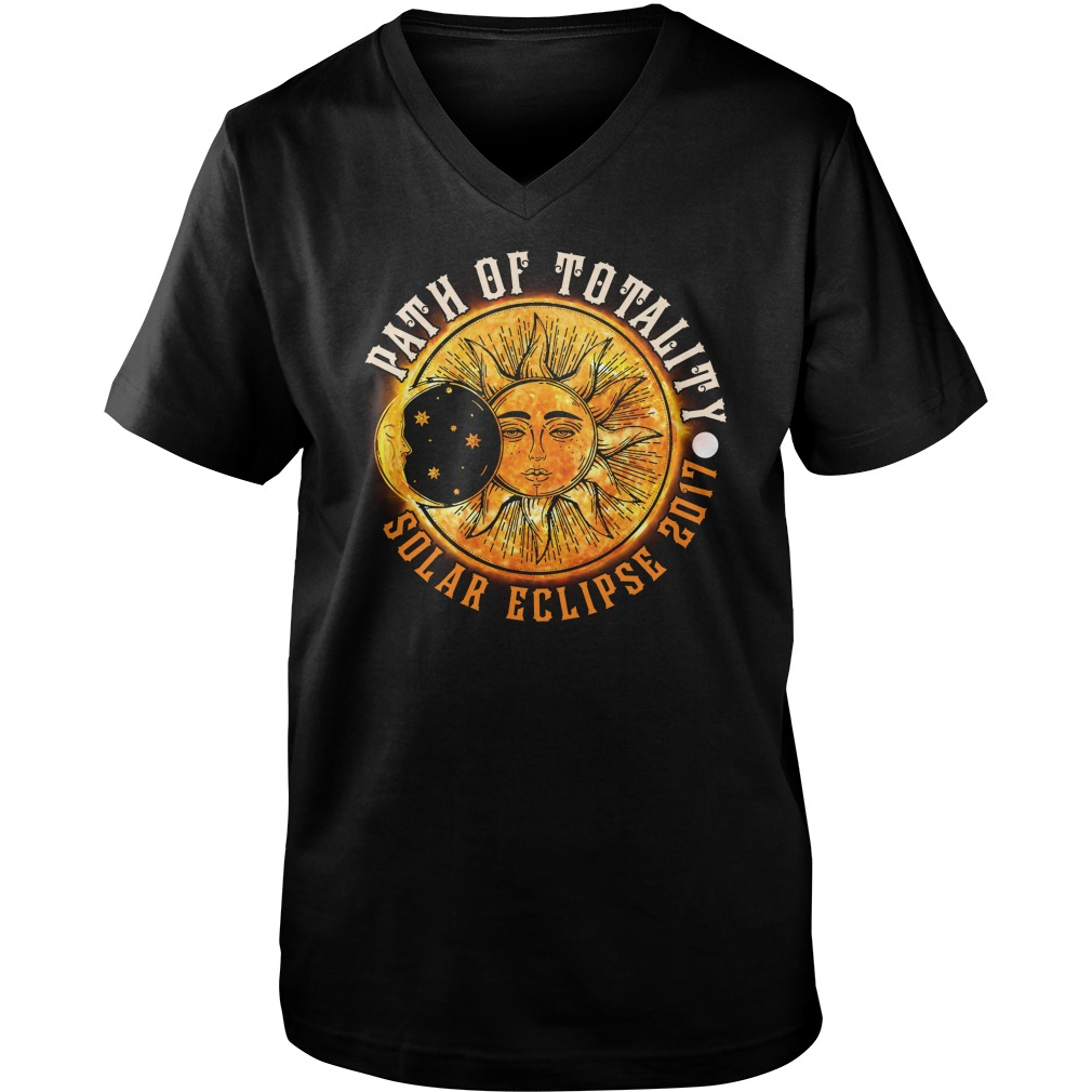 PATH OF TOTALITY SOLAR ECLIPSE 2017 GUYS VNECK