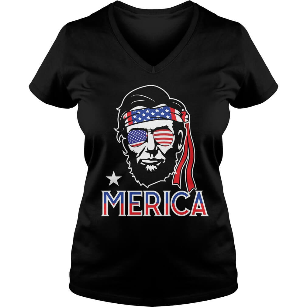 abe-lincoln-4th-july-hip-american-v-neck-t-shirt