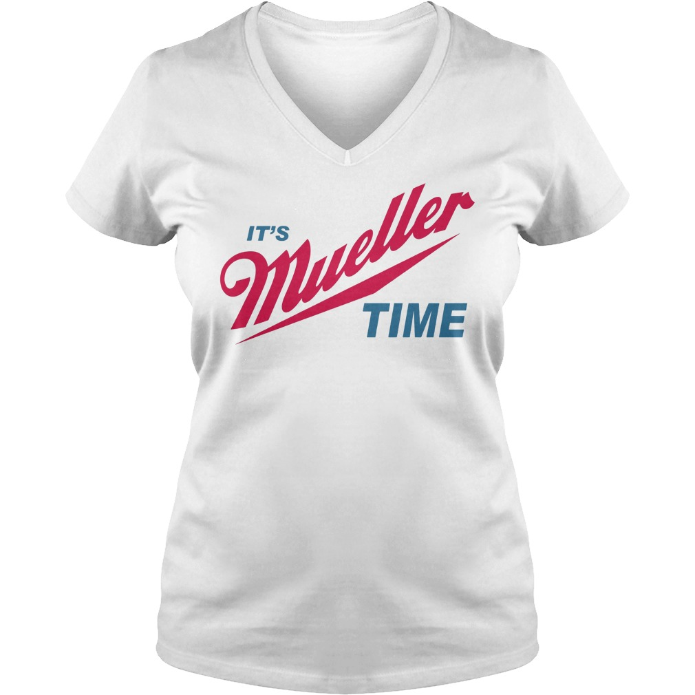 Robert Mueller Time Resist Anti Trump V Neck T Shirt