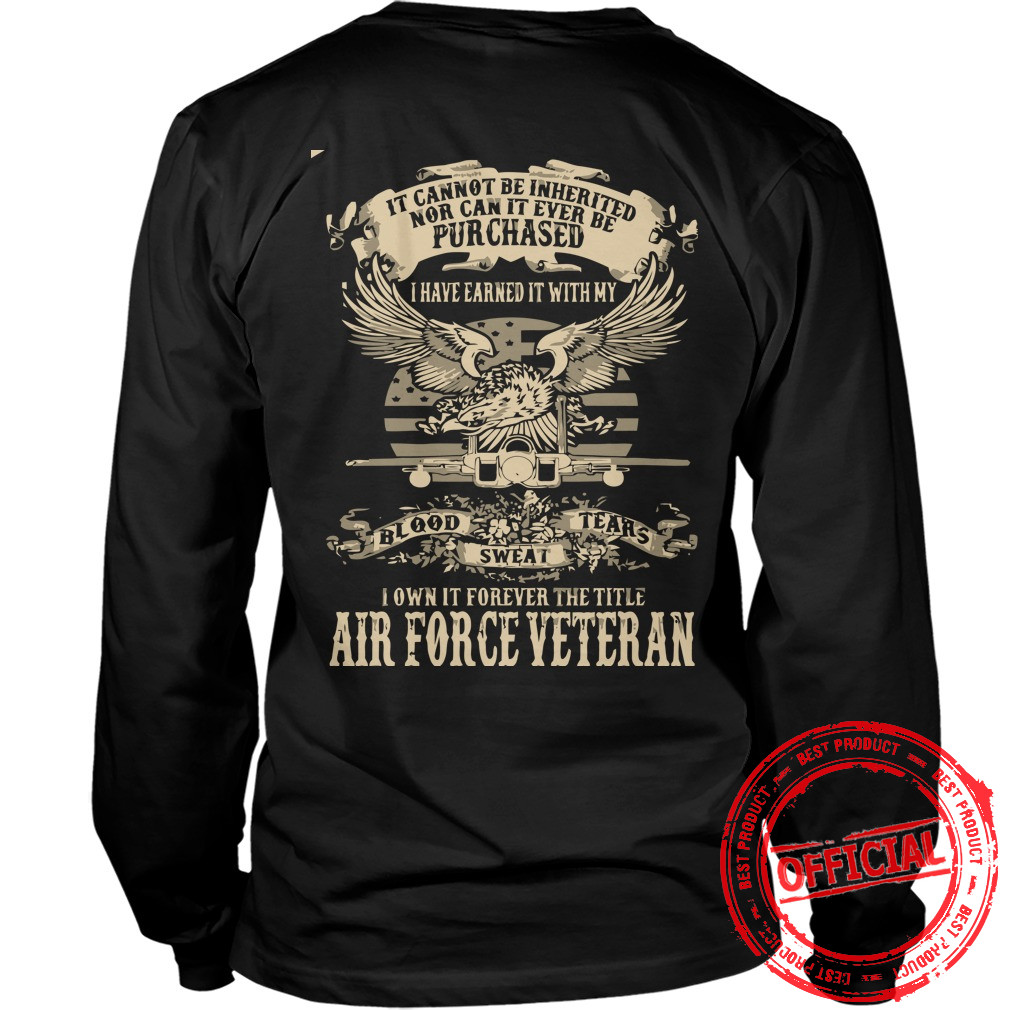 Airforce Veterans,us Army Veteran Longsleeve Tee