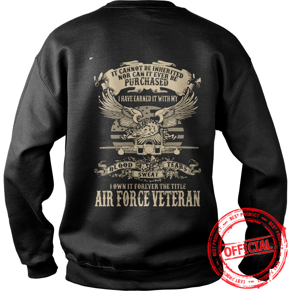 Airforce Veterans,us Army Veteran Sweat Shirt