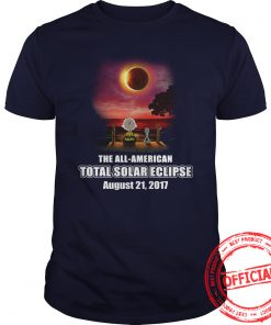 Charlie Brown And Snoopy Watching The Solar Eclipse Aug 21 2017 T Shirt