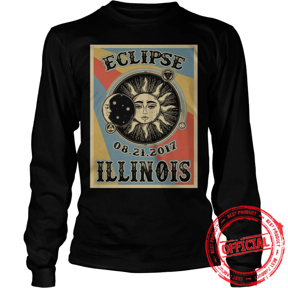 Illinois Solar Eclipse 2017 Longsleeve Tee