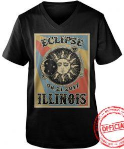 Illinois Solar Eclipse 2017 V Neck