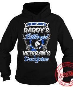 Im Not Little Girl I'm A Veterans Daughter Hoodie