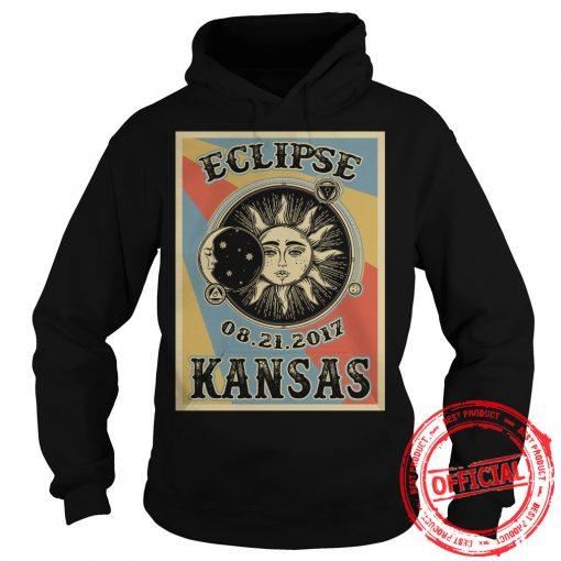 Kansas Solar Eclipse 2017 T Shirt Hoodie