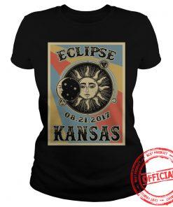 Kansas Solar Eclipse 2017 T Shirt Ladies Tee