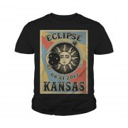 Kansas Solar Eclipse 2017 T Shirt Youth Tee