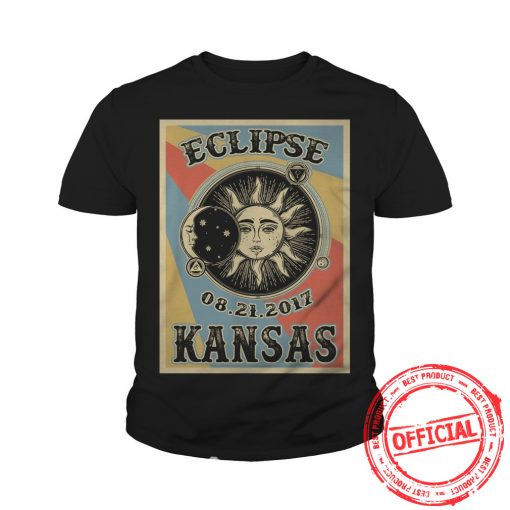 Kansas Solar Eclipse 2017 T Shirt Youth Tee
