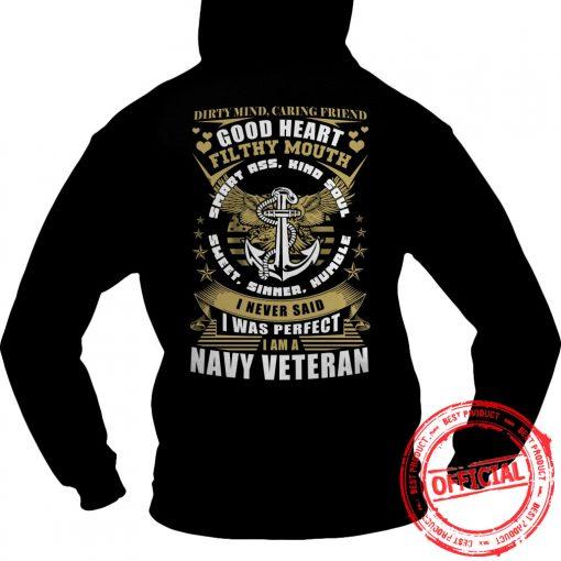 Limited Tee For Navy Veterans Hoodie.