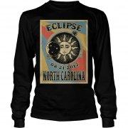 North Carolina Solar Eclipse 2017 Longsleeve Tee