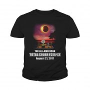 Official Charlie Brown And Snoopy Watching The Solar Eclipse Aug 21 2017 Youth Tee