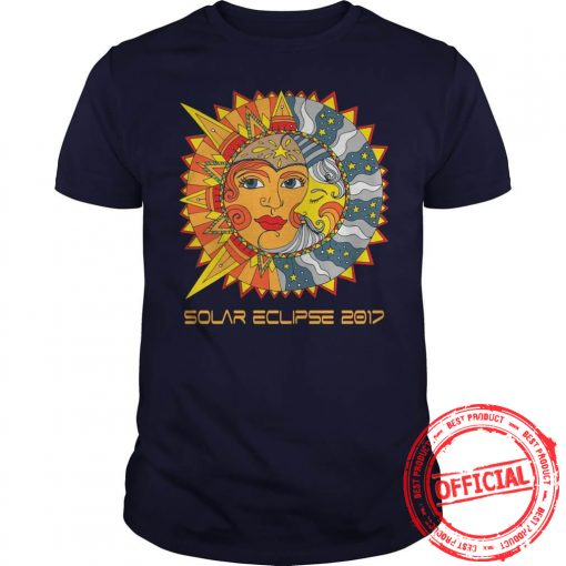 Path Of Totality Solar Eclipse 2017 T Shirt Guys Tee