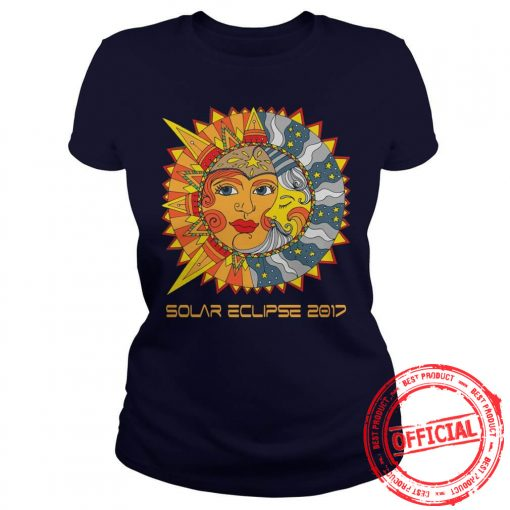 Path Of Totality Solar Eclipse 2017 T Shirt Ladies Tee