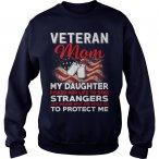 Risk Veteran Mom Daughter Sweat Shirt