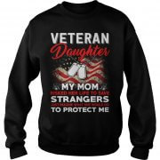 Risk Veteran Daughter My Mom Strangers Sweat Shirt