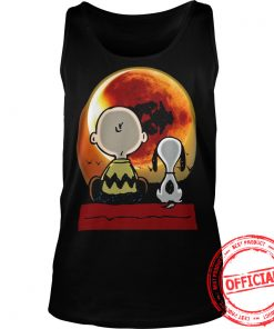 Snoopy And Charlie Brown At Solar Eclipse 2017 Tanktop