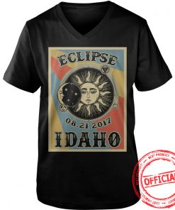 Totality Solar Eclipse 2017 In Idaho Guys Vneck