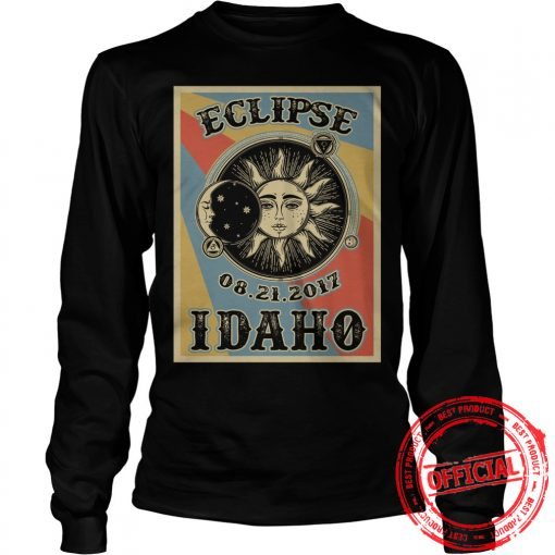 Totality Solar Eclipse 2017 In Idaho Unisex Longsleeve Tee