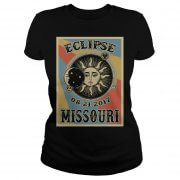 Totality Solar Eclipse 2017 In Missouri Ladies Tee